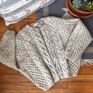 Vintage Chunky Cable Knit Cardigan Sweater